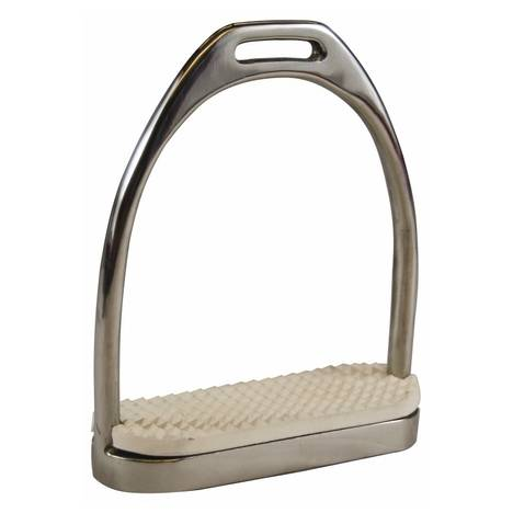 Henri de Rivel Stainless Steel Fillis Stirrups with Pads