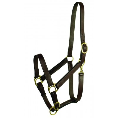 Gatsby Leather Adjustable Turnout Halter without Snap
