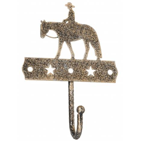 Tough-1 Single Hook With Equine Motif And Glitter Finish - Western Pleasure