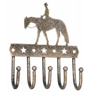 Tough-1 Key Rack With Equine Motif And Glitter Finish - Western Pleasure