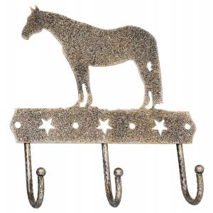 Tough 1 Equine Motif Glitter Finish Three Hook Rack - Cowboy Prayer