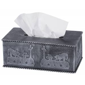 Tough-1 Tissue Box Cover With Equine Motif - Cowboy Prayer