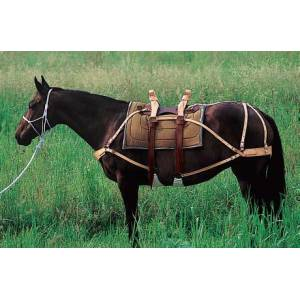 Weaver Deluxe Sawbuck Pack Saddle with Leather