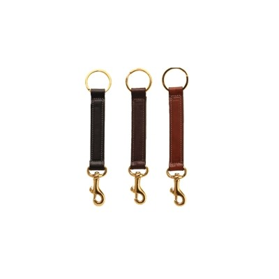 TORY LEATHER Key Ring with  Brass Bolt Snap
