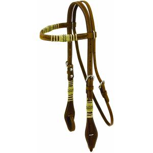 Floral Tooled Rawhide Show Halter