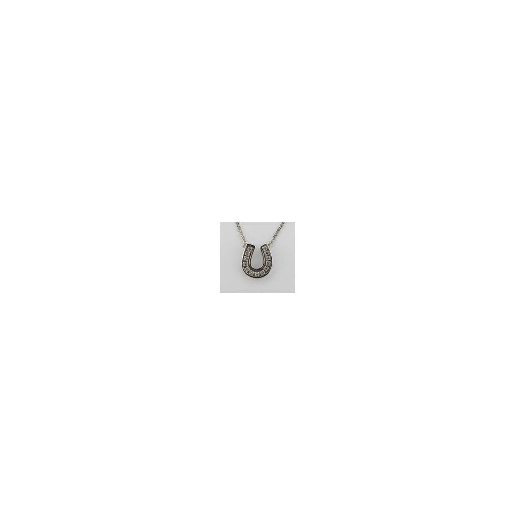 Finishing Touch Channel Horseshoe Necklace - Crystal