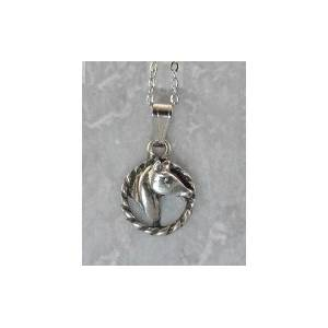 Finishing Touch Horse Head In Rope Pendant