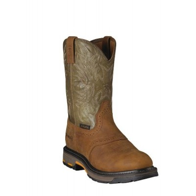 Ariat Workhog Pull On - Mens - Aged Bark Army Green