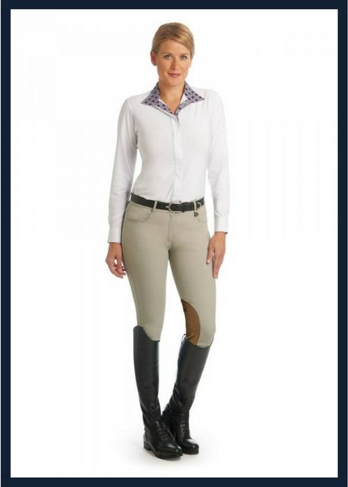 The Ovation Aqua X Breeches with Clarino Knee Patch