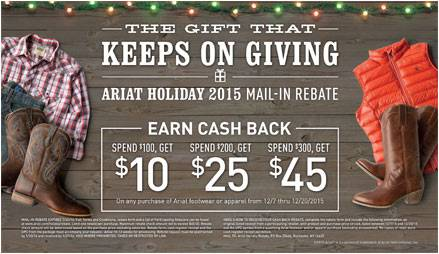 Ariat Rebate