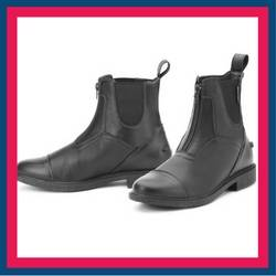 Ovation Energy Leather Zip Paddock Boots
