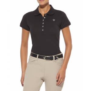 Ariat Prix Classic Polo - Ladies, Black