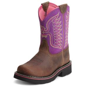 Ariat Fatbaby Thunderbird Boots - Kids, Brown/Amethyst