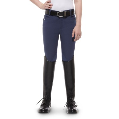 Ariat Heritage Breeches - Kids, Knee Patch, Indigo