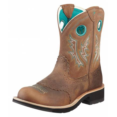 Ariat Fatbaby Cowgirl Boots - Ladies, Powder Brown/Tan