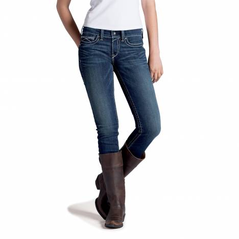 Ariat R.E.A.L. Whipstitch Skinny Jeans- Ladies, Ocean