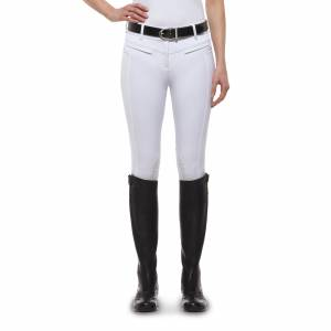 Ariat Triumph Low Rise Breeches - Ladies, Knee Patch, White