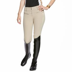 Ariat Triumph Low Rise Breeches - Ladies, Knee Patch, Tan