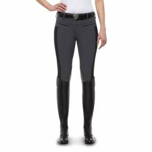 Ariat Triumph Low Rise Breeches - Ladies, Knee Patch, Charcoal