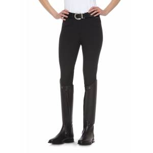 Ariat Olympia Front Zip Breeches - Ladies, Knee Patch, Black