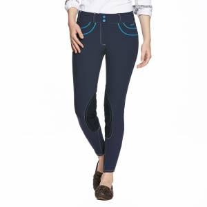 Ariat Olympia Acclaim Breeches - Ladies, Knee Patch, Navy
