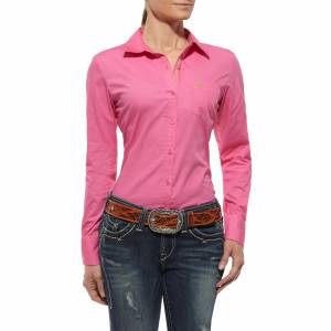 Ariat Kirby Shirt - Ladies, Trippy Pink