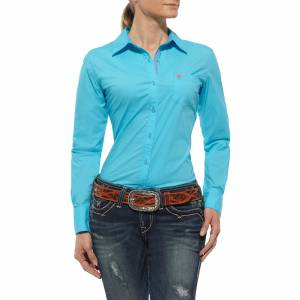 Ariat Kirby Shirt - Ladies, Endless Turquoise