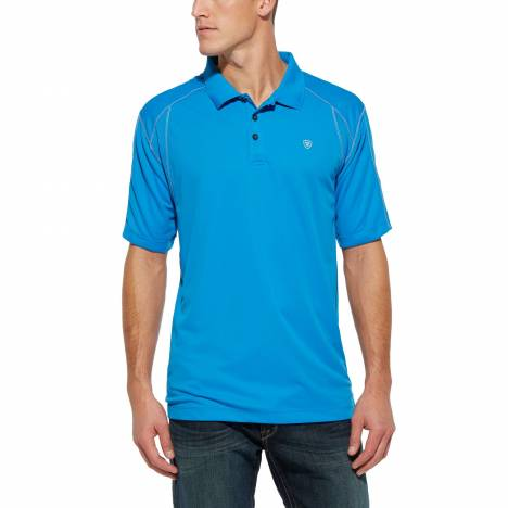 Ariat AC Tek Polo - Mens, Brilliant Blue