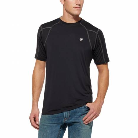 Ariat Agile AC Tek Tee Shirt- Mens, Black