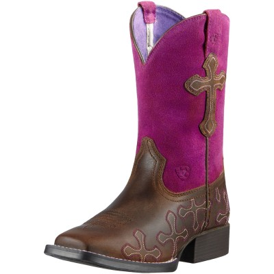 Ariat Crossroads Western Boots - Kids, Fuschia