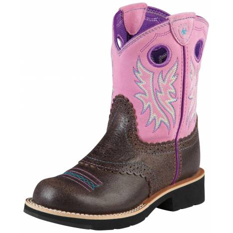 Ariat Fatbaby Cowgirl Boots - Kids, Chocolate/Bubblegum