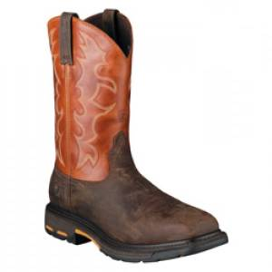 Ariat Workhog Wide Square Steel Toe - Mens - Dark Earth Brick