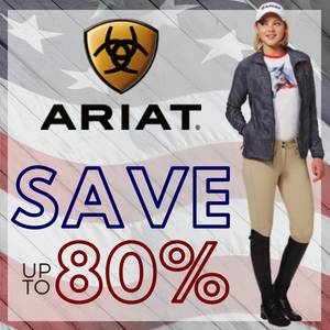 Save up to 80% on Ariat