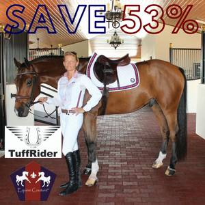 Save up to 53% on Equine Couture & TuffRider