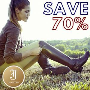 Save 70% on Justin English Boots & Half Chaps