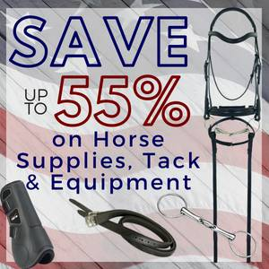 Save up to 55% on Horse Supplies, Tack & Equipment