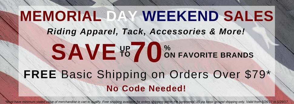Equestrian Collections Memorial Day Specials