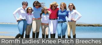Romfh Ladies' Knee Patch Breeches Collection