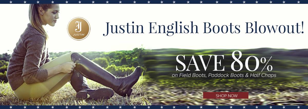 Shop Justin English Boot Sales This Presidents' Day!