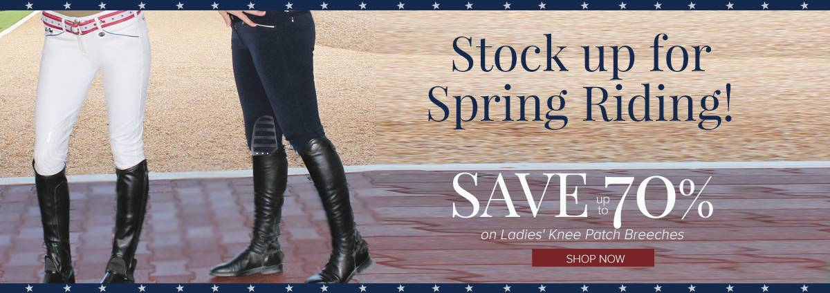 Shop Presidents' Day Sales on Ladies' Knee Patch Breeches