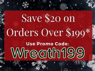 Save $20 on Orders Over $199