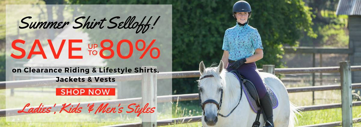 Shop Clearance Riding Shirts & Jackets