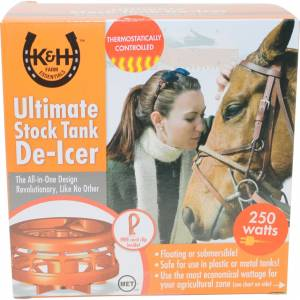 K&H Pet Products Ultimate Stock Tank Deicer with Cord Clip