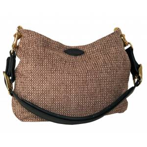 Perri's Premium Handbag with Padded Leather Crown Strap