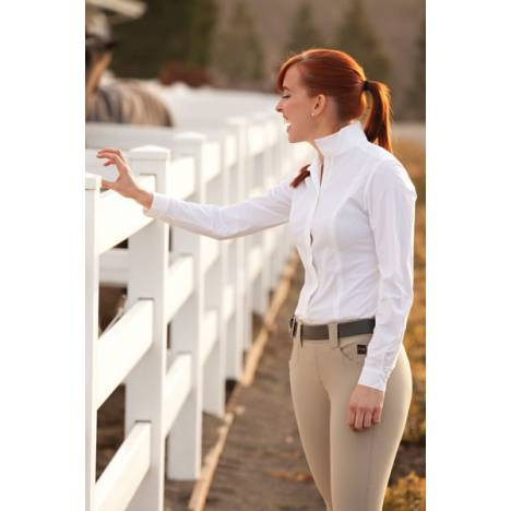 FITS Claire Silk Touch Show Shirt - Ladies, Solid Colors