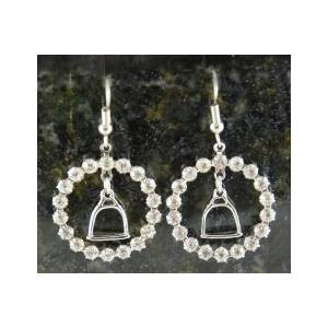 Finishing Touch Crystal Ring Stirrup Fish Hook Earrings