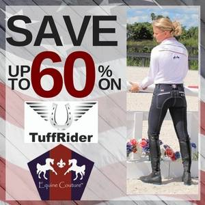Save up to 60% on Equine Couture & TuffRider