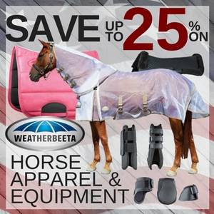 Save up to 25% on Weatherbeeta Horse Apparel & Equipment