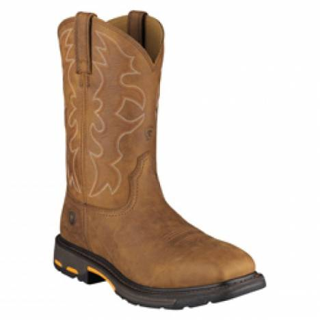 Ariat Workhot Wide Square Steel Toe Workboot - Mens -Rugged Bark