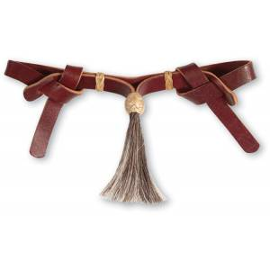 Martin Saddlery Leather and Horsehair Curb Strap